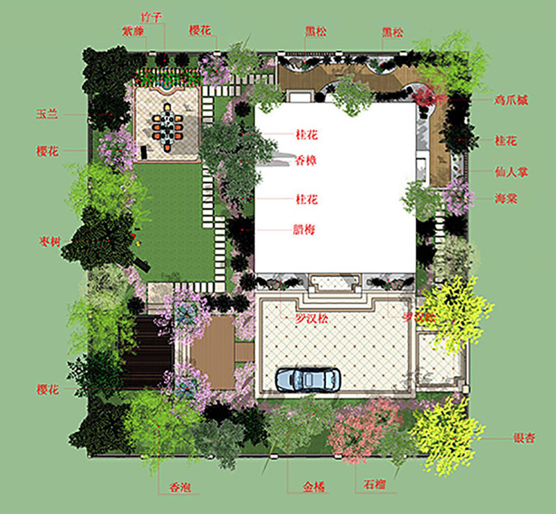 植物布置 - 台州景观设计